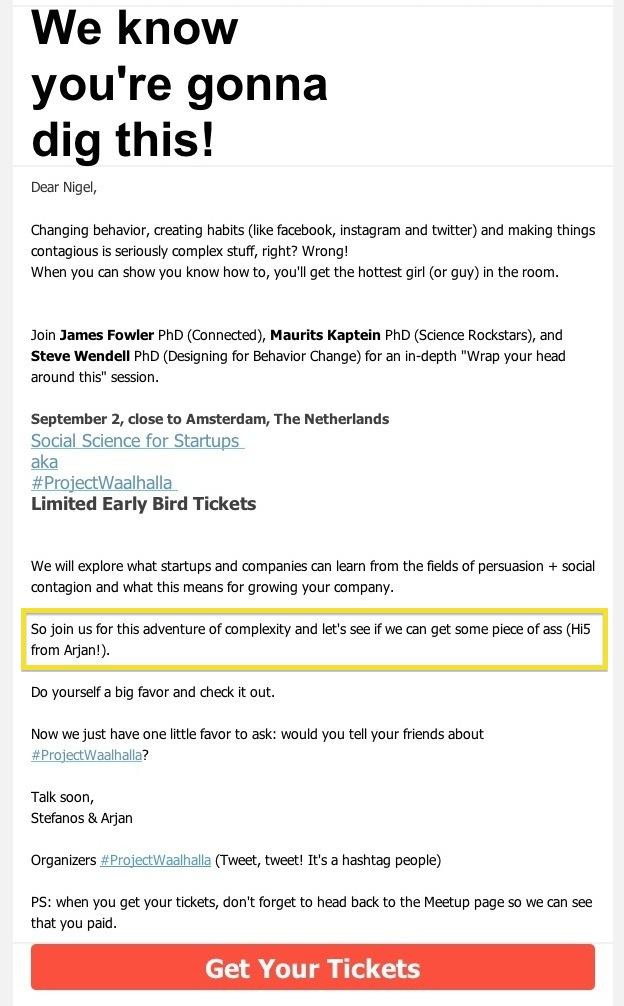 Weirdest marketing automation email
